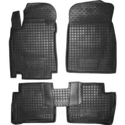 Коврики в салон Nissan Tiida 2006 -2011 черный, кт - 4шт, AVTO-GUMM, 11258  AVTO-GUMM