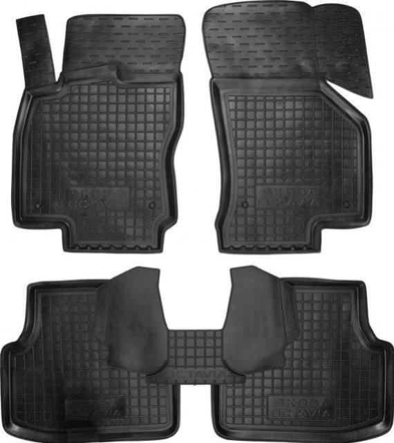 Коврики в салон Skoda Octavia A7 2013 -> черный, кт - 4шт, AVTO-GUMM, 11385  AVTO-GUMM