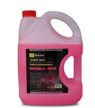 Жидкость омывателя летняя с ароматом Starline Bubble Gum, 4 л