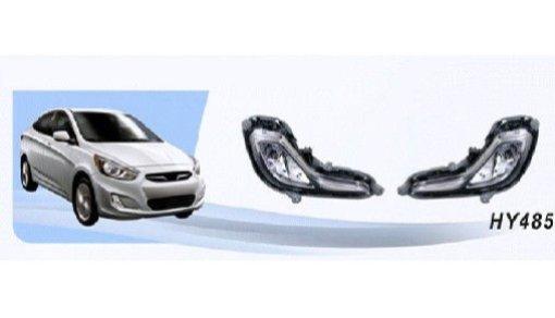 Противотуманные фары Hyundai Accent/Verna 2011-/эл.проводка, к-т 2 шт.