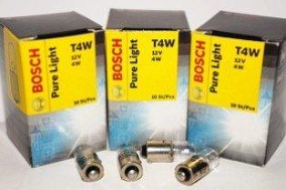 Лампа галогенная BOSCH T4W Pure Light 12V