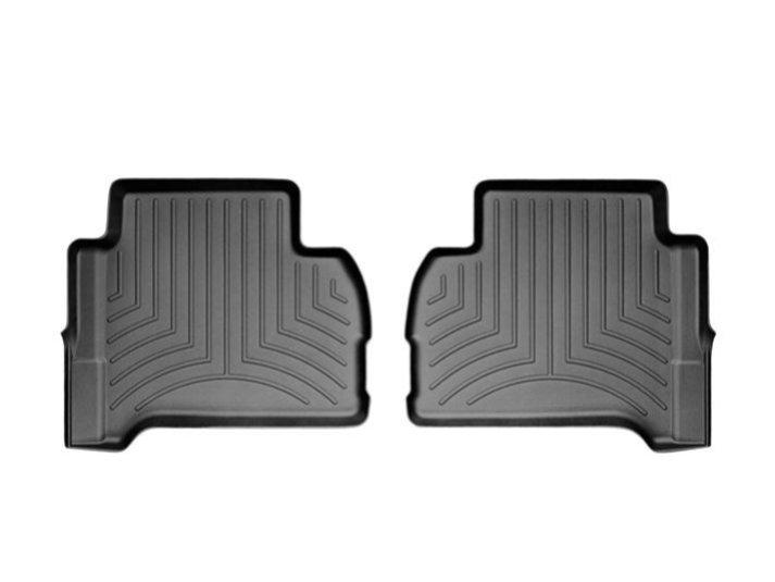 Коврики в салон Volkswagen Amarok 2009-14 с бортиком, черные задние, WEATHERTECH, 443262