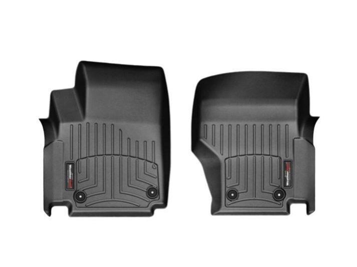 Коврики в салон Volkswagen Amarok 2009-14 с бортиком, черные передние, WEATHERTECH, 443261