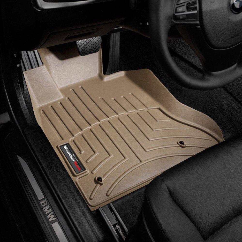Коврики в салон BMW 5 2010- F10 с бортиком, передние, бежевые RWD, WEATHERTECH, 453131