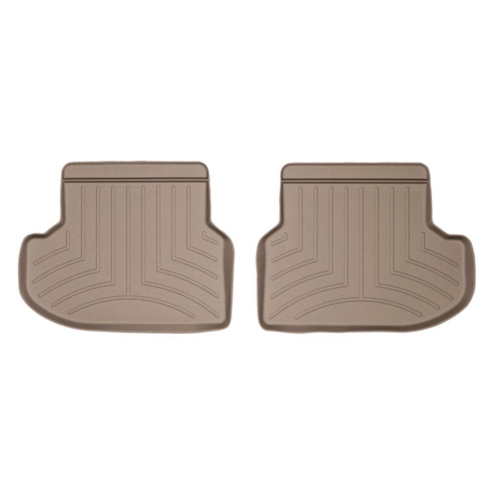 Коврики в салон BMW 5 2014- F10 с бортиком, задние, бежевые RWD, WEATHERTECH, 453133