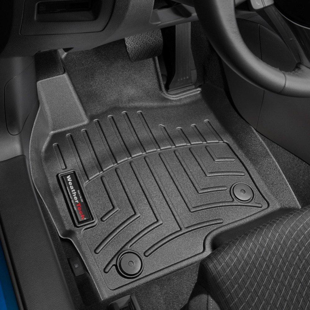 Коврики в салон Mazda CX-5 2012- с бортиком, передние, черные, WEATHERTECH, 444191
