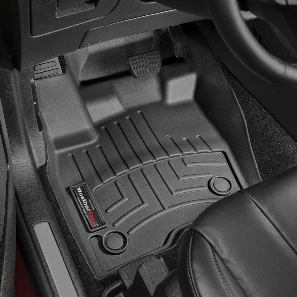 Коврики в салон Ford Edge 2016- с бортиком, передние,черные, WEATHERTECH, 448451