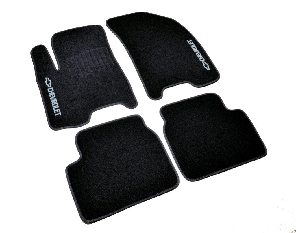 Коврики в салон Chevrolet Aveo (2005-2011) /Чёрные, кт. 5шт (текстиль)