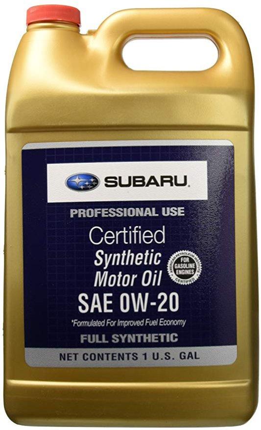 Масло моторное синтетическое Subaru Synthetic Motor Oil 0W-20, 3.78 л