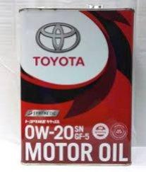 Масло моторное синтетическое Toyota Motor Oil 0W-20, 4 л