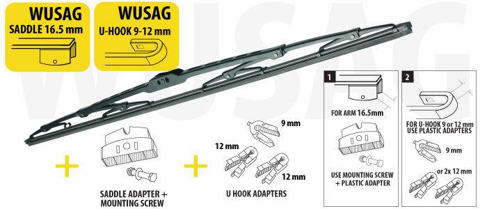 Щетка стеклоочистеля (дворник) для грузовиков и автобусов 650 mm