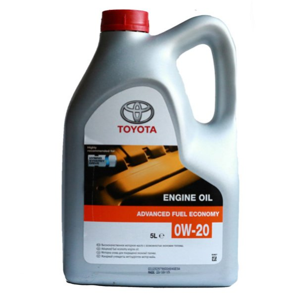 Масло моторное синтетическое Toyota Engine Oil Advanced Fuel Economi 0W-20, 5л, TOYOTA, 08880-83265