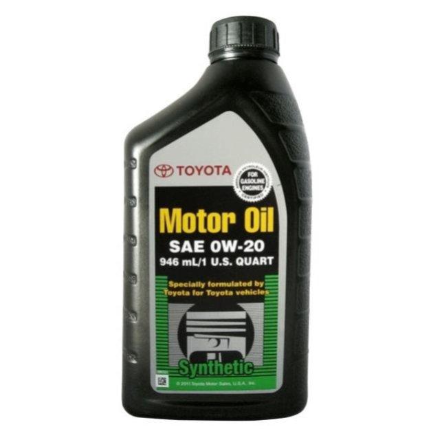 Масло моторное TOYOTA Motor Oil 0W-20, 0.946 л, TOYOTA, 00279-0WQTE