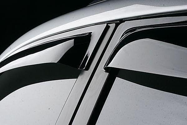 Дефлекторы окон (ветровики) Ford Focus III, 11-, WG, темный 4 части.